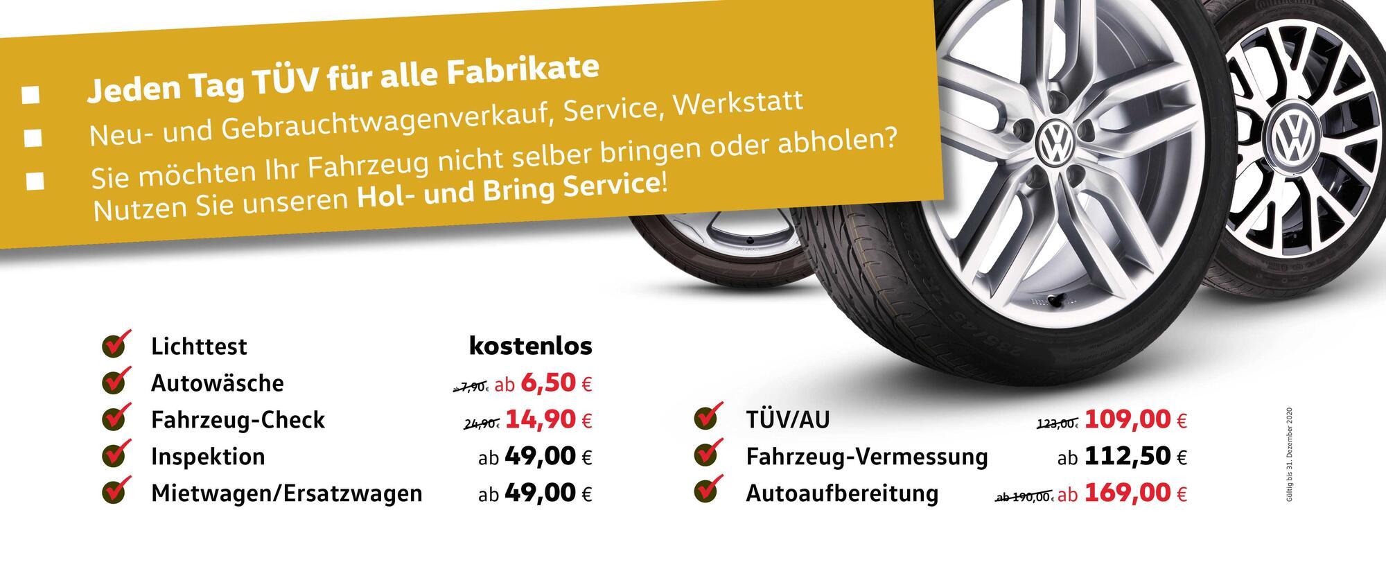 Service Angebote November/Dezember 2020